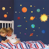 The Solar System Wall Stickers Decals Children Room Wall Decal planets Space Galaxy Boys Bedroom Graphic