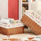 23*15*12cm NEW PRODUCTS Wicker Weaving Storage Basket Storage Box For Cosmetics tea picnic basket organizer Container