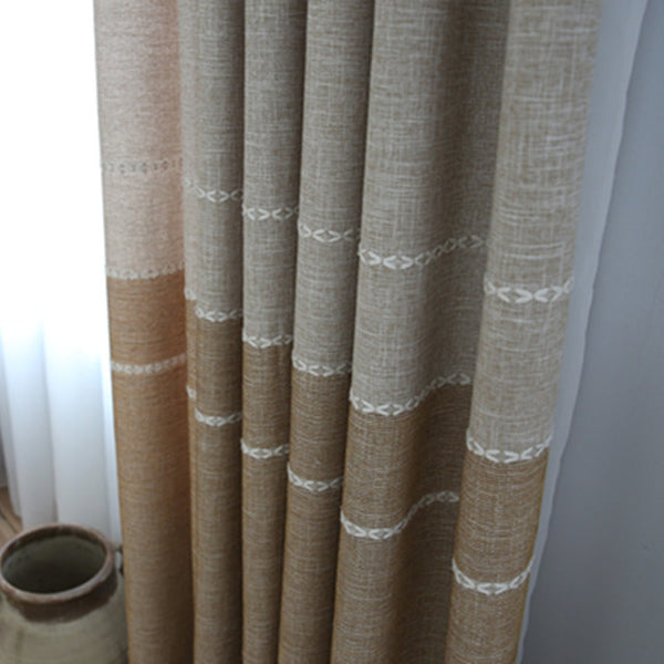 Minimalist Chenille Cotton Warp Knitting Lace Curtain Half A Window Shade,Curtains for Living Dining Room Bedroom