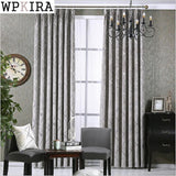 New Thicking Chenille Fabric Silver Jacquard Blackout Curtain Drape For Bedroom Window Blind Custom Made Curtains 293&20