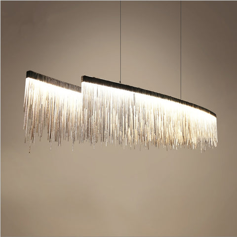 Modern designer  Nordic tassel restaurant luxury chandeliers hotel engineering chain living room art hanging lights