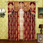 Red Small Fur Surface Embroidery Golden flowers curtains Rod Stick Curtain Classic design elegant bedroom Curtain Rod Style