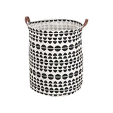 Storage Bucket With Handles Canvas Printing PE Waterproof Kids Toys Storages Barrel Home Washing Clothes Basket 40*50cm  Sale