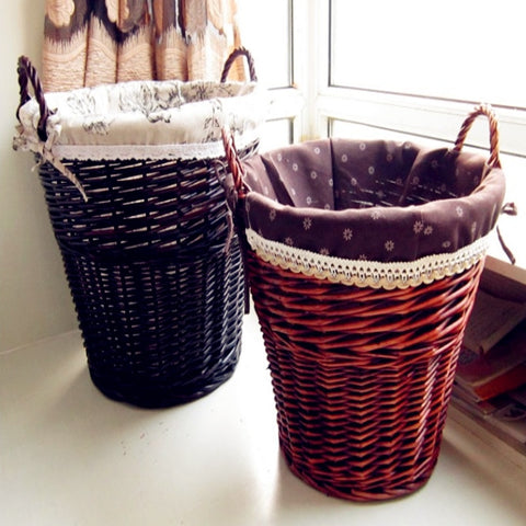 2017 NEW PRODUCTS WICKER  Weaving Storage Basket  Rattan Storage Box  picnic basket organizer with handle Handiwork