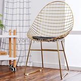 Metal lron balcony chair Originality Coffee chairs Northern Europe Design Dining room furniture Minimalist modern dining chair