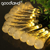 Goodland LED String Lights 6M Fairy Lights 30 Leds Water Lighting Outdoor For Decoration Solar Panel LED Christmas Lights