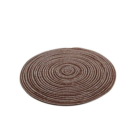Knit Round Carpets For Living Room Computer Chair Area Rug Children Play Tent Floor Mat Cloakroom Rugs And Carpets