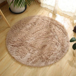 Large Soft Shaggy Round Carpet for Living Room Warm Plush Floor Rugs Fluffy Mats Kids Room Faux Fur Area Rug Thick Velvet Mats