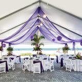 Sheer Organza Swag Fabric event party wedding birthday meeting Decoration for stair table reception arch house cars