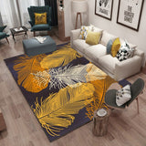 LOUTASI Green Leaf Living Room Carpet Chair Yoga Mat Jacquard Sofa Floor Mats Doormat Rugs and Carpets Shaggy Area Rug for Home