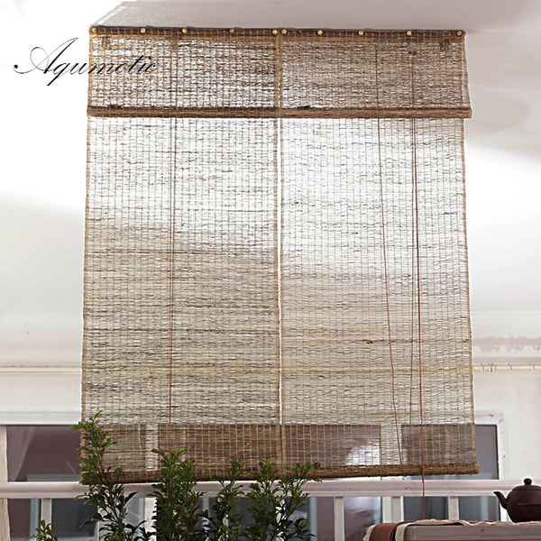 Aqumotic Room Dividers and Folding Privacy Screens Natural Retro Curtain Ramie Room Split Light Decorative Partition Wall