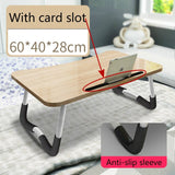 High Quality Laptop Desk Bed Table Thick Folding Student Table Simple Desk Steady and Not Shaking Computer Desk Office Furniture