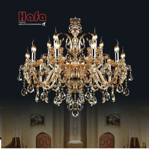 crystal chandelier Light Luxury Modern crystal Lamp chandelier Lighting champage Crystal Top K9 chandelier crystal light