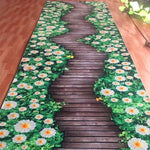 Pastoral Flower Stair Carpet Long Corridor Rug Home Entrance/Hallway Doormat Hotel Aisle Carpets Wedding Floor Mat Anti-Slip Rug