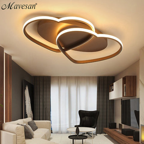 Led Chandelier Ceiling Lamp Modern Lighting Plafondlamp Heart-shaped Light for Living Room Kidsroom Restaurant Bathroom 85v-260v
