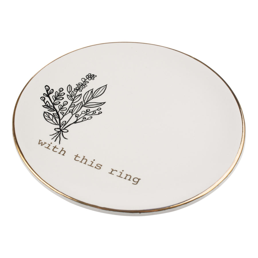 Gold With This Ring Trinket Tray