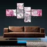Extra Large Flower Diamond Floral Wall Art Modern Home Decor Bedroom Print