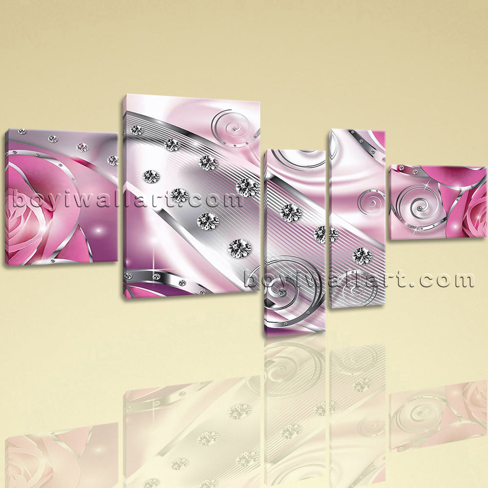 Extra Large Flower Diamond Floral Picture Modern Canvas Art Bedroom Prints