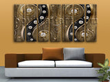 Extra Large Abstract Picture Modern Home Decor Living Room 7 Panels Giclee Print