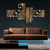Extra Large Abstract Wall Art Modern Oil Painting Bedroom 4 Pieces Print