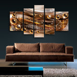 Extra Large Abstract Wall Art Hd Print Modern Painting 5 Panels Canvas