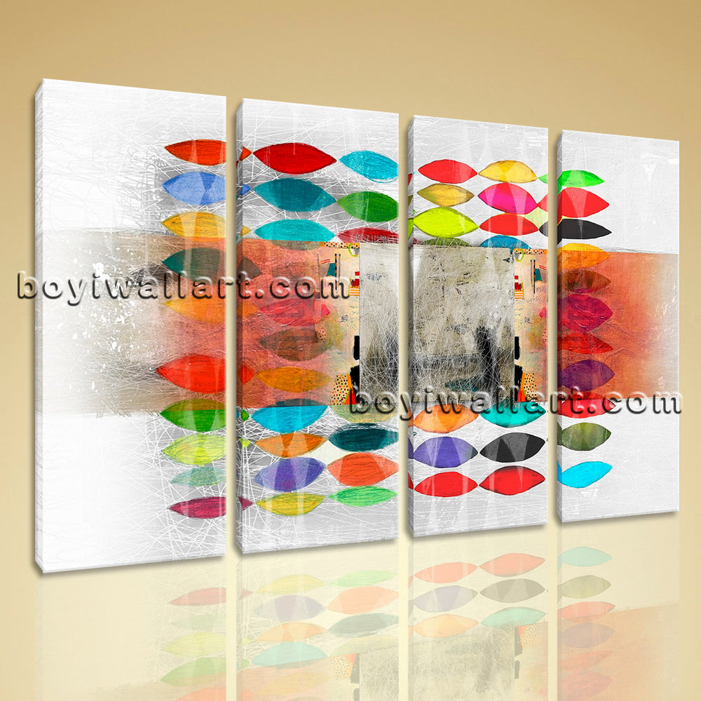 Large Abstract Wall Art Picture Modern Decor Living Room Tetraptych Panels Print