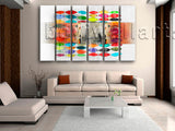 Large Abstract Wall Art Painting Modern Oil Living Room 6 Panels Prints