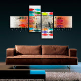Extra Large Abstract Wall Art Decor Modern Bedroom Four Panels Print