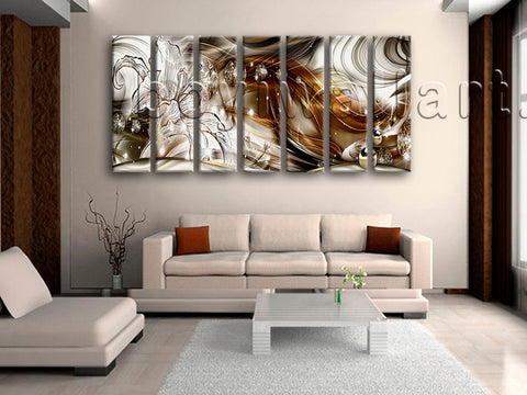Extra Large Modern Abstract Wall Art Decor Home Living Room Seven Pieces Print