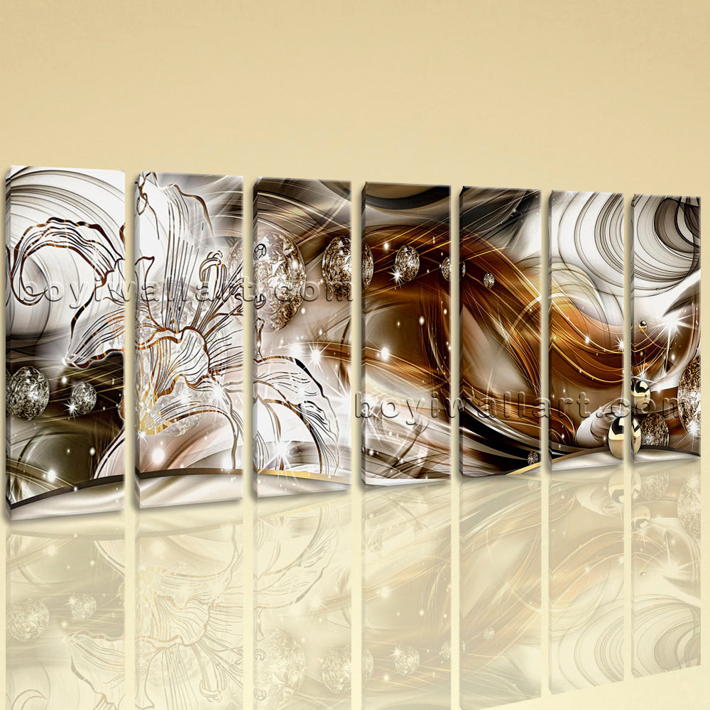 Extra Large Modern Abstract Wall Art Decor Home Living Room Seven Piec Oil Painting Shops