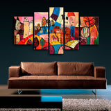 Extra Large Abstract Landscape Picture Art Painting Living Room 5 Panels Prints