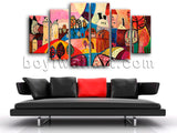 Extra Large Abstract Landscape Wall Art Painting On Canvas Dining Room Print