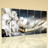 Large Modern Abstract Floral Orchid Flower Picture Canvas Art Living Room Prints