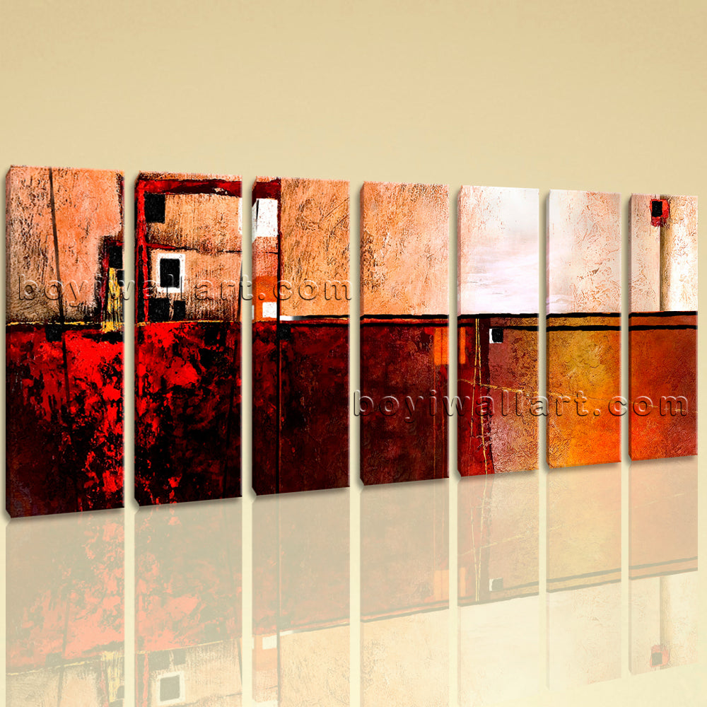 Extra Large Abstract Painting Print Home Decor Living Room Heptaptych Pieces Art