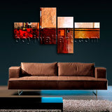 Extra Large Abstract Painting Hd Print Wall Decor Bedroom Tetraptych Pieces