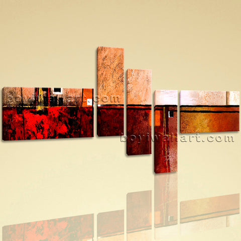 Huge Contemporary Abstract Painting Wall Art Home Decor 5 Panels Print