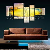 Extra Large Contemporary Abstract Painting Print Wall Art Bedroom Five Pieces