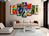 Extra Large Contemporary Abstract Painting Wall Decor Living Room 5 Panels Print