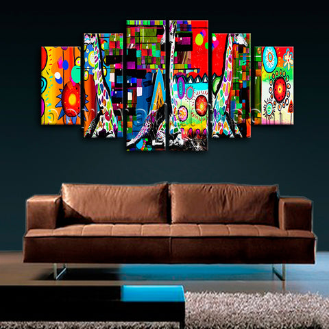 Extra Large Contemporary Abstract Painting Wall Decor Dining Room Art Print