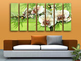 Extra Large Abstract Floral Wall Art Orchid Flower Decor Modern Painting Prints