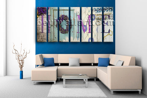 Extra Large Home Abstract Print Contemporary Wall Decor 7 Panels Prints