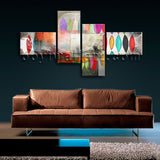 Extra Large Contemporary Abstract Painting Print On Canvas Bedroom 4 Pieces