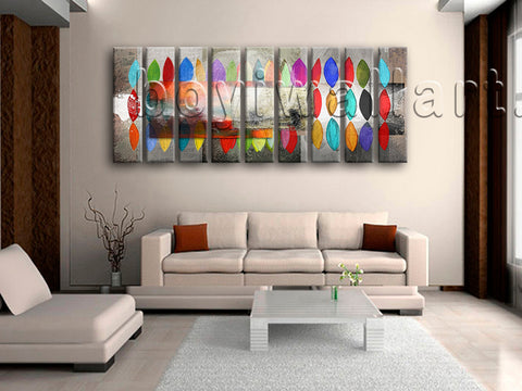 Huge Contemporary Abstract Painting Wall Decor Art Living Room 9 Pieces Prints