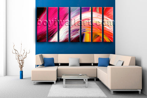 Extra Large Contemporary Abstract Painting Canvas Art Living Room 7 Pieces Print
