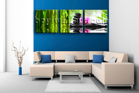 Large Relaxing Spa Feng Shui Floral Wall Art Modern 1 Panels Canvas Print