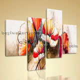Large Abstract Poppy Flowers Picture Impressionist Wall Art Bedroom Print