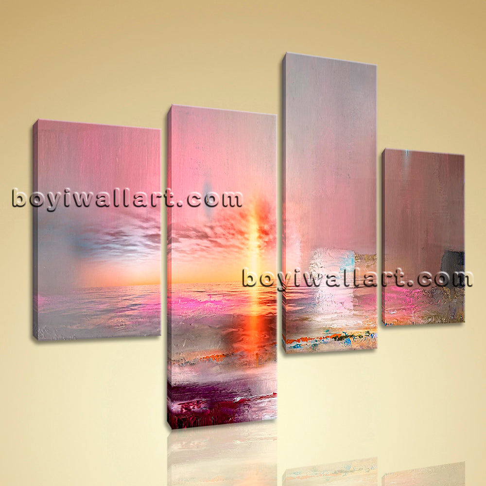 Large Abstract Painting Picture Home Decor Bedroom Tetraptych Panels Print