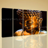 Large Buddha Face Print Contemporary Painting On Canvas Dining Room Giclee