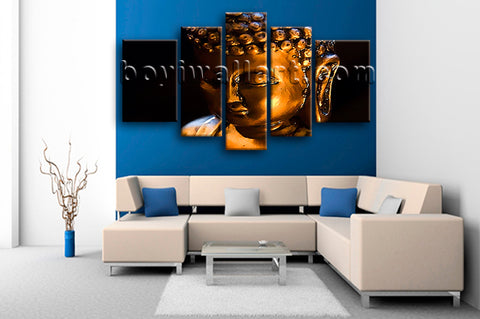 Extra Large Buddha Face Wall Art Contemporary Canvas Living Room Print