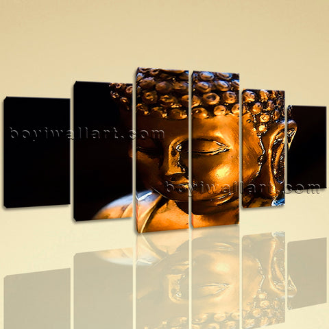 Extra Large Buddha Face Wall Art Contemporary Painting Dining Room Prints